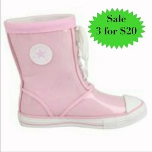 CONVERSE Sneakers RAIN BOOT pink plastic GIRLS 3